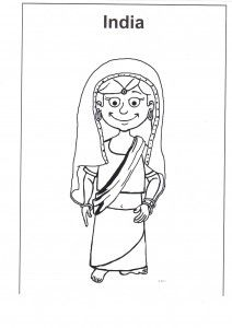 multi race family coloring pages - photo#4