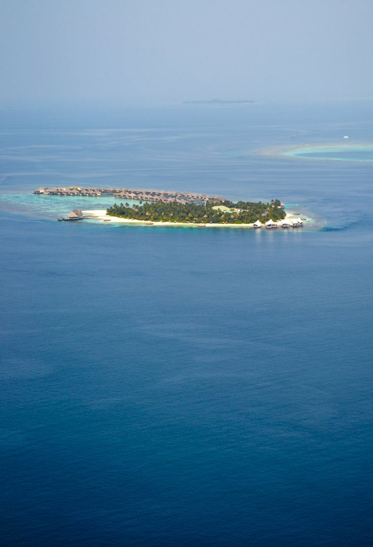 Arriving by seaplane at a private island resort in the Maldives