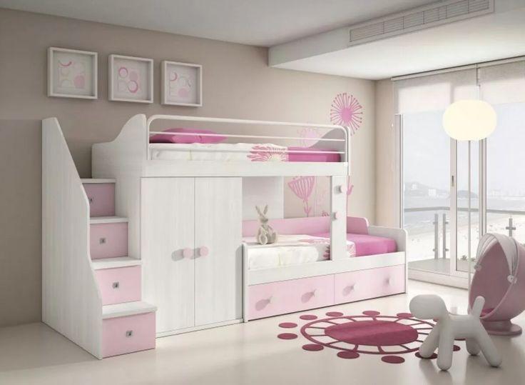 Cama nido infantil juvenil cucheta triple o con 2 cajones for Cama dormitorio infantil