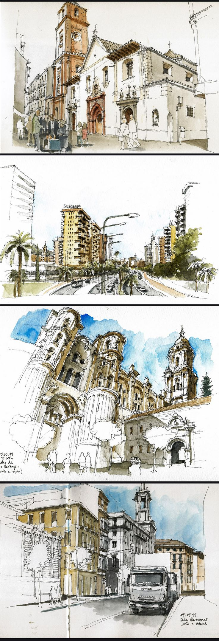 Luis Ruiz Padrón  #travel  #journal  #watercolor                                                                                                                                                                                 More