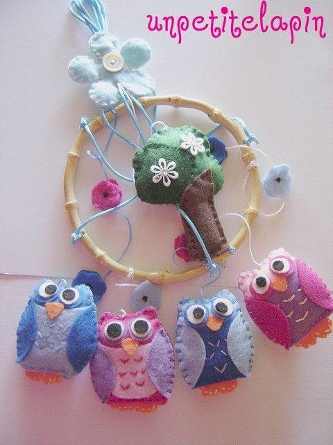 Handmade Baby Owl Mobile