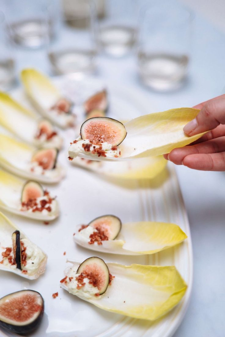 A crisp white wine pairs well with The Taste SF's endive chips with figs and crispy prosciutto di parma and blue cheese espuma