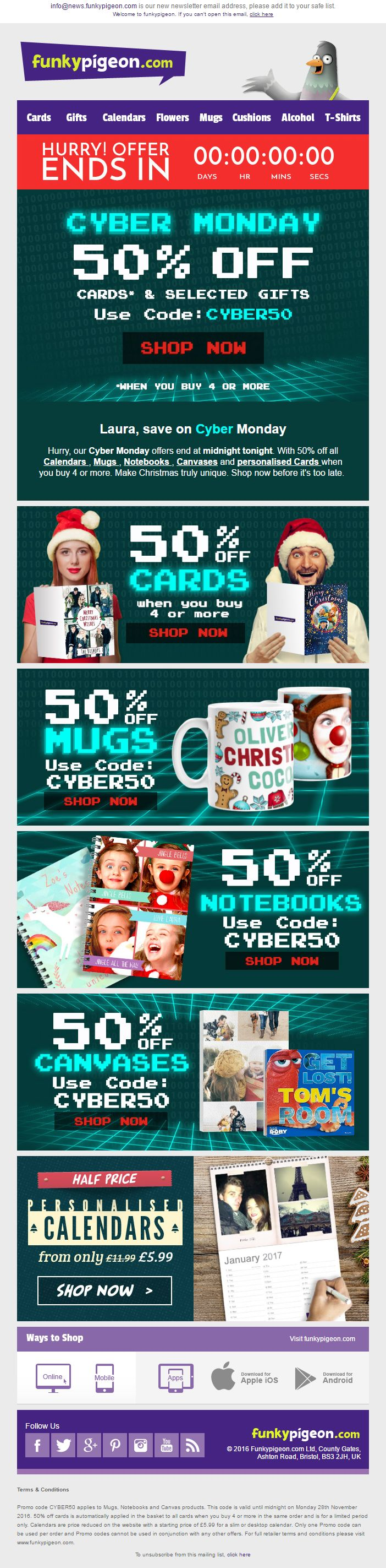 47 best Cyber Monday Email Design Gallery images on Pinterest ...