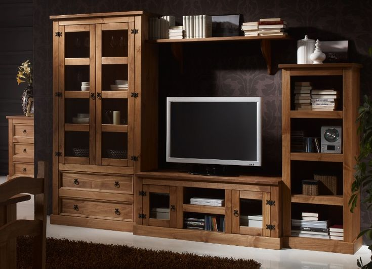 Muebles rusticos buscar con google muebles pinterest tvs tv stands and living rooms - Muebles de salon rusticos baratos ...