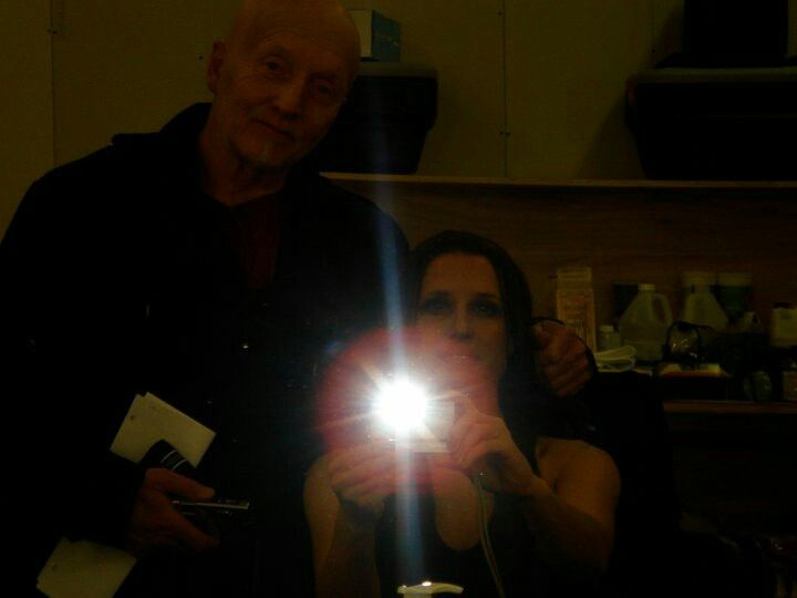 Saw VI Shawnee Smith and Tobin Bell behind the scenes!!😀