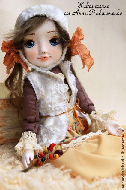 Эльза - коричневый,белый,авторская кукла,колекционная кукла,кукла ручной работы