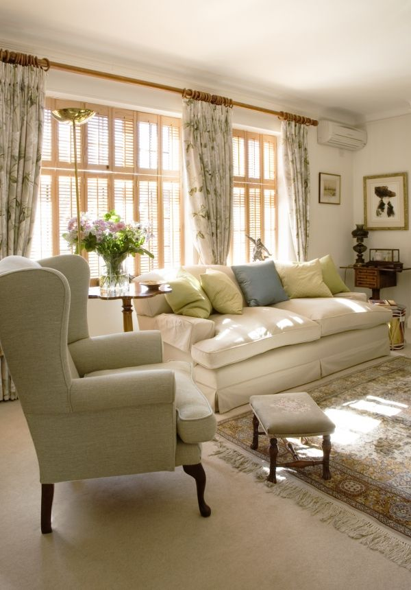 Ava Living | Comfortable English Living Room by Adrienne Chinn