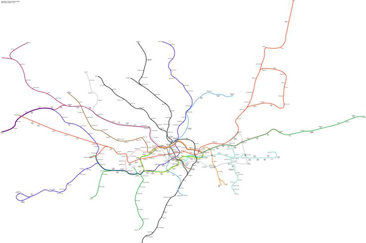 And the tube map as it would look if it was actually accurate. | 17 London Underground Maps You Never Knew YouNeeded