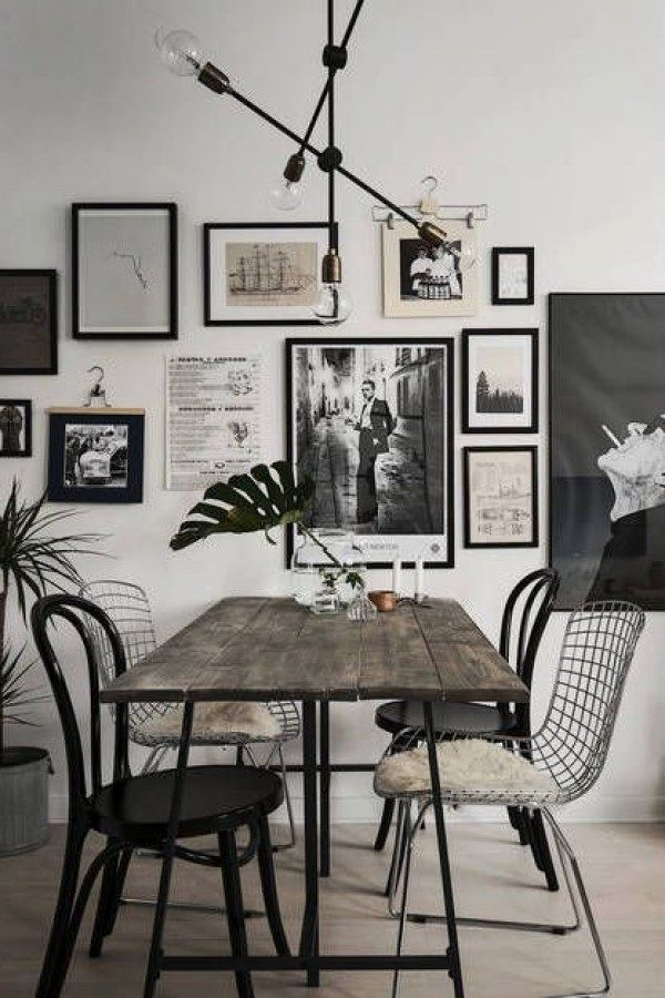 50 Awesome Industrial Wall Accessories To Nail Your Industrial Decorating Project Indust Minimalist Dining Room Industrial Style Decor Dining Room Industrial
