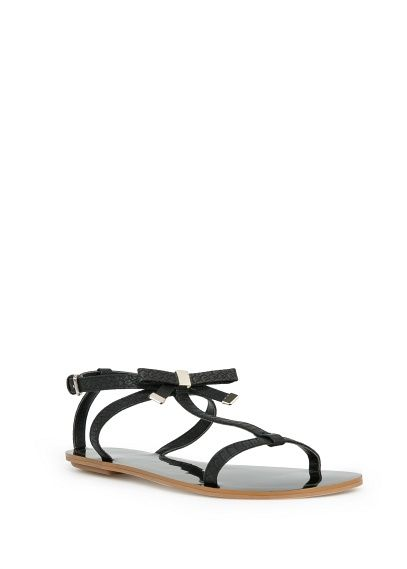 T-bar sandalen met strik