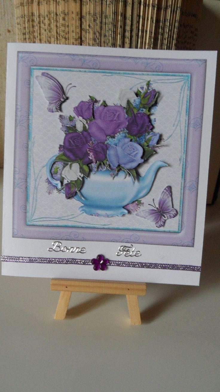 Fête des grands-mères , offrez lui une carte avec des fleurs. : Cartes par made-by-newscrapeuse