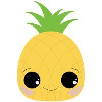 Ananas Kawaii Pineapple Art Drawing Piñas Kawaii Drawings
