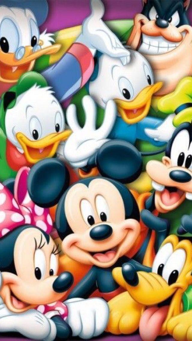 iPhone Wall: Mickey & Friends tjn