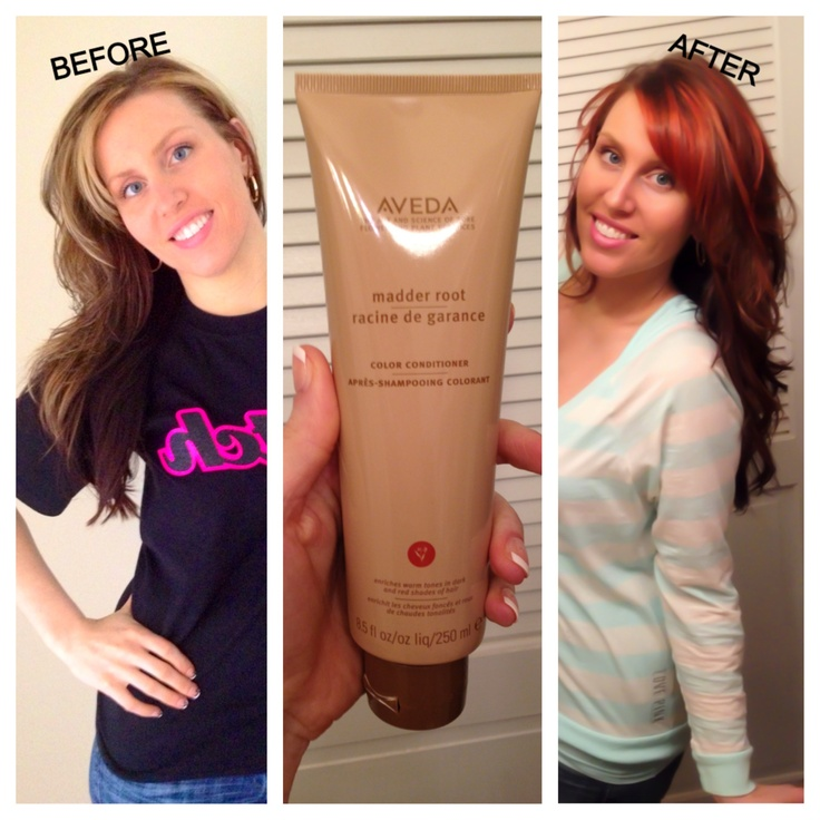 Hmmmm it's amazing how much this Aveda conditioner changed my hair color!!!!