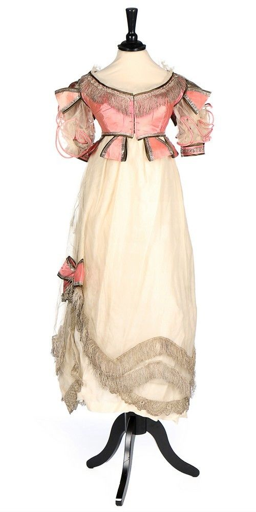 Evening dress or fancy dress, 1820′s From Kerry Taylor Auctions