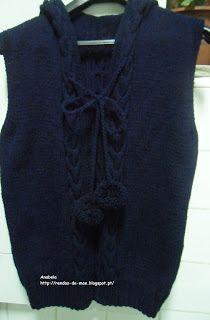 Rendas da Mãe: Casaco de trico com capuz