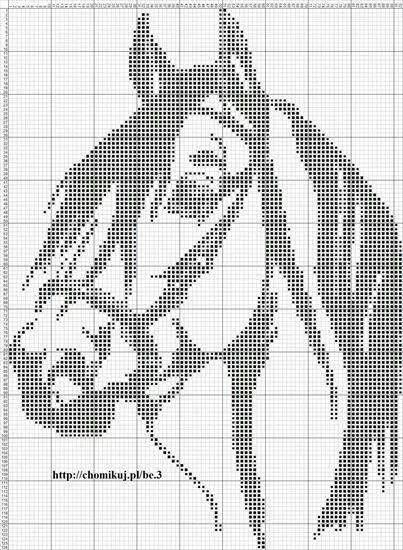 Cavalo em ponto cruz.