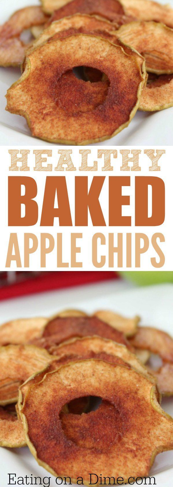 How to make Apple chips in the oven. Try this easy baked apple chips recipe. How to bake apple slices easily. The perfect after school snack.