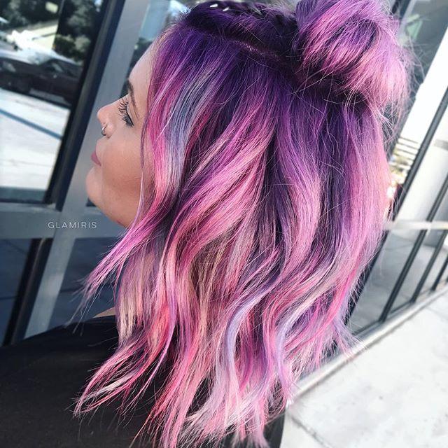 Metallic pastels? Yes please.  @pulpriothair colors x @designmehair puff me spray x @randcohair hairspray