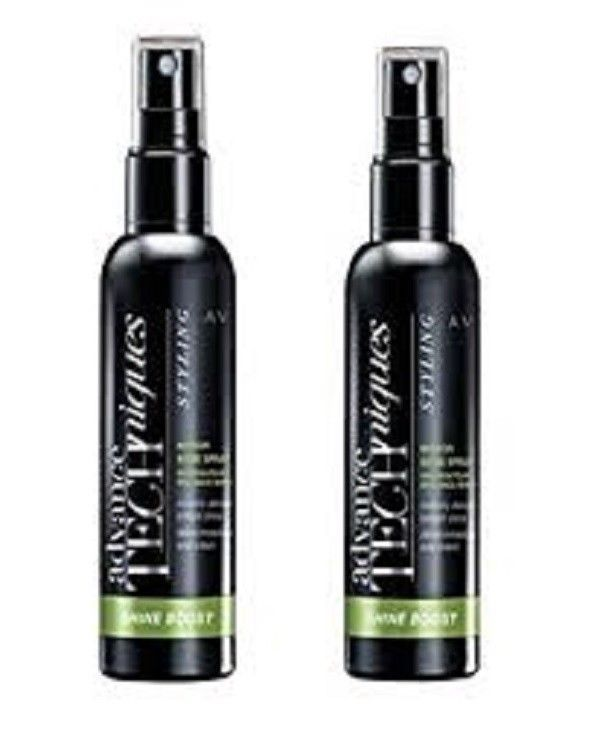 AVON ADVANCE TECHNIQUES MIRROR SHINE SPRAY 2 x 100ml - SHINE BOOST FOR HAIR. NEW #Avon