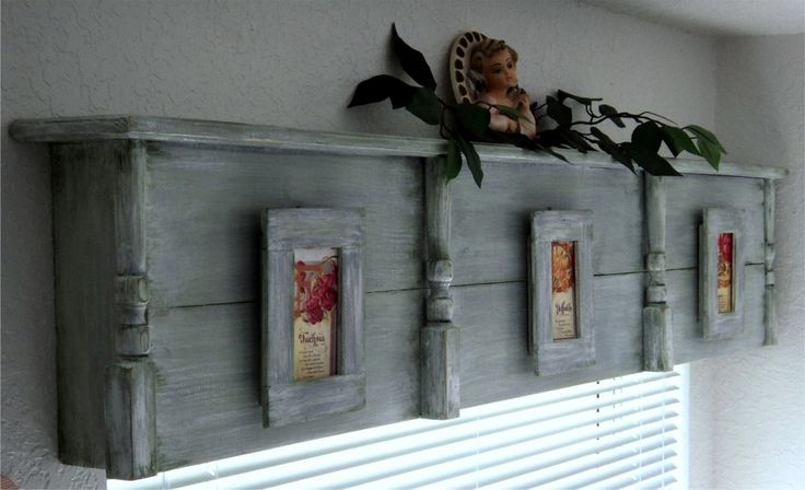 Wood Valance Boxes | RESERVED For VALRY FETROW Wooden cornice primitive picture frames ...