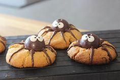 Sallys Blog - Erdnussbutterkekse mit Schoko-Spinnen (24 St.)