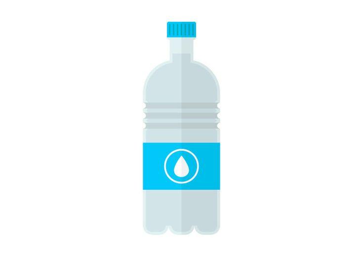 Bottle of Water Flat Vector