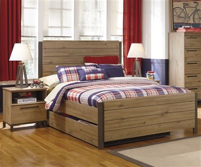 dexifield panel bed with trundle full size