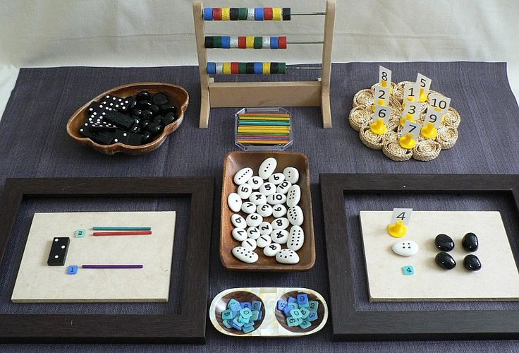 Math set invitation to play - Homemade Rainbows ≈≈ http://www.pinterest.com/kinderooacademy/math-numbers-shapes-patterns/