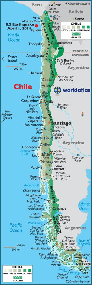 The capital of Chile is Santiago and has over 16 million people in population. They have a Roman catholic and Protestant religion.