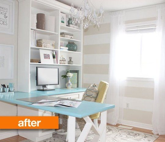 Before & After: Sabrina's Pretty & Professional Home Office
