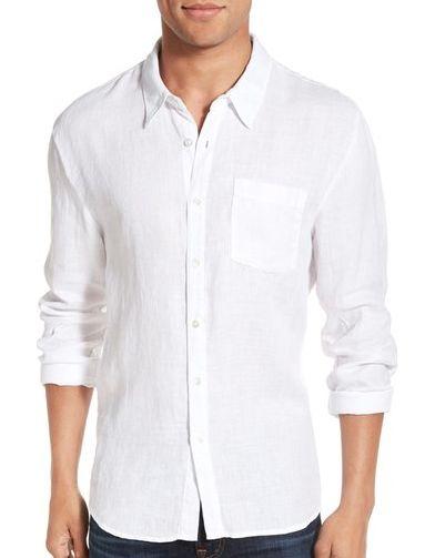 James Perse Trim Fit Linen Sport Shirt