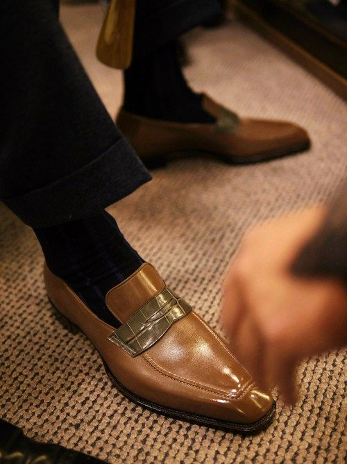 http://chicerman.com bespoke-makers: Spigola Bespoke Penny Loafer Photos fromCOL #menshoes