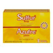 Grisi Sulfur Soap with Lanolin For Acne Treatment, 4.4 OZ