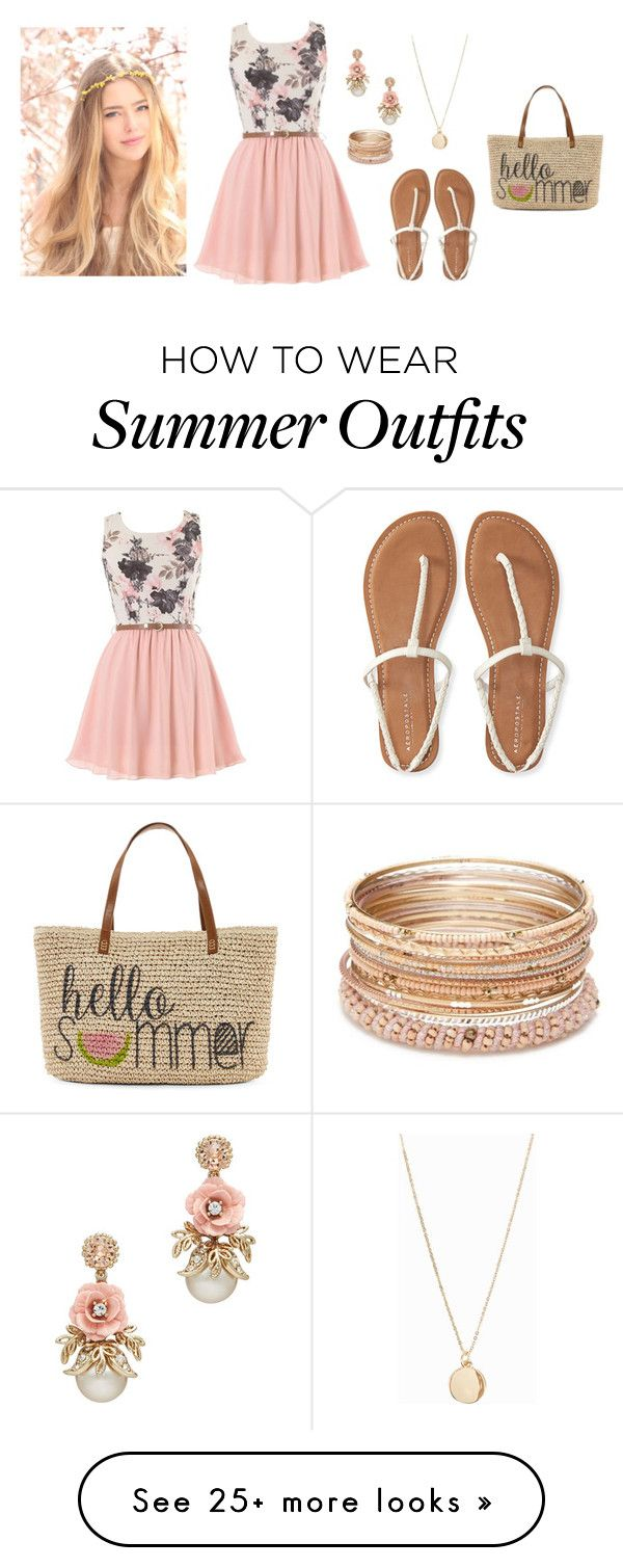 """QOTW ~ What is your summer walk outfit?"" by destinee-miller15 on Polyvore featuring Aéropostale, Red Camel, NLY Accessories, Straw Studios and questionoftheweek"