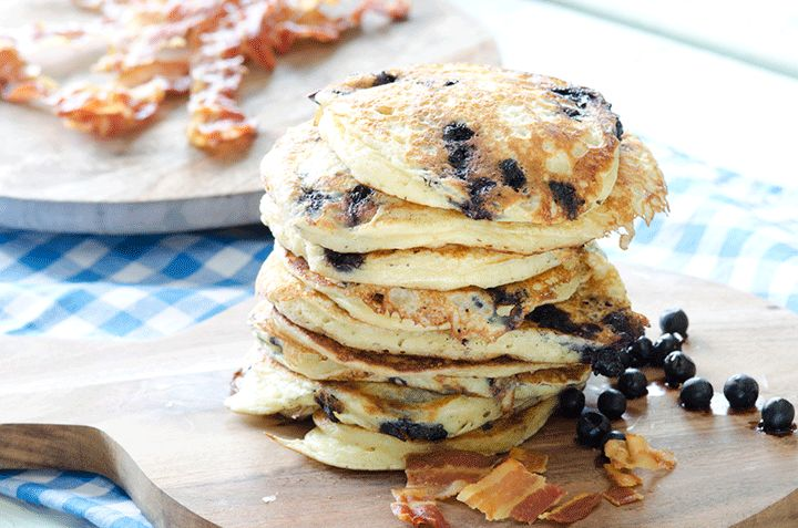 Ekte, amerikanske pannekaker er en sikker vinner. Foto: Fru Timian