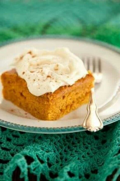 Pumpkin bars Paula Deen | Food ideas | Pinterest