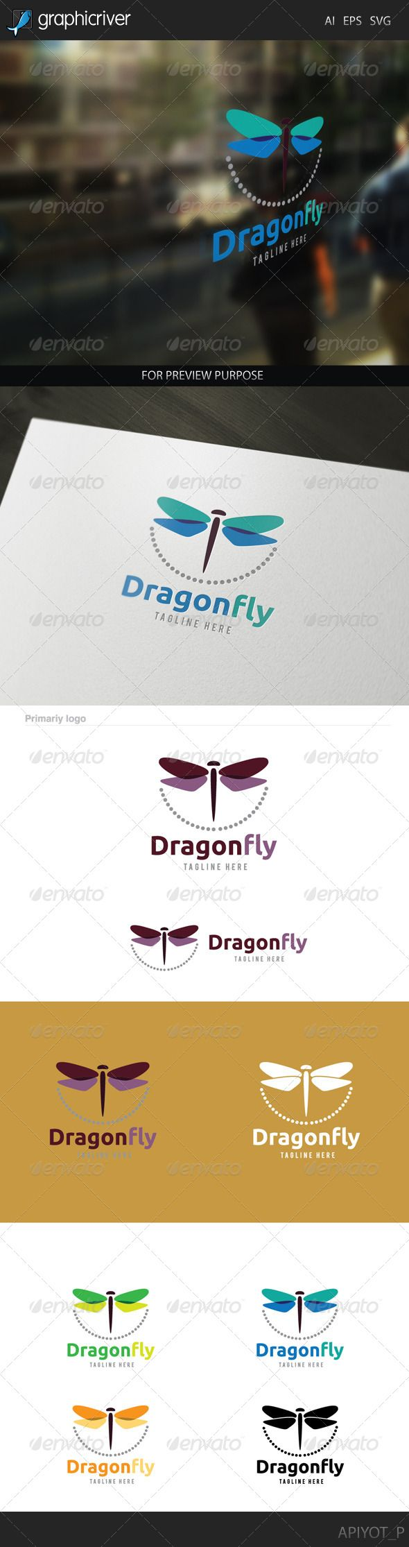 Dragonfly Logo   http://graphicriver.net/item/dragonfly-logo/8172879?ref=damiamio       Dragonfly Logo  Featured:           AI CS4 Document      EPS 10 Document      PDF Document      CMYK 100 % Vector (Re-sizable)      300PPI     This Logo use free font more detail in help file.     Created: 4July14 GraphicsFilesIncluded: VectorEPS #AIIllustrator Layered: No MinimumAdobeCSVersion: CS Resolution: Resizable Tags: animal #art #beauty #butterfly #color #dragonfly #fantasy #fashion #flower…