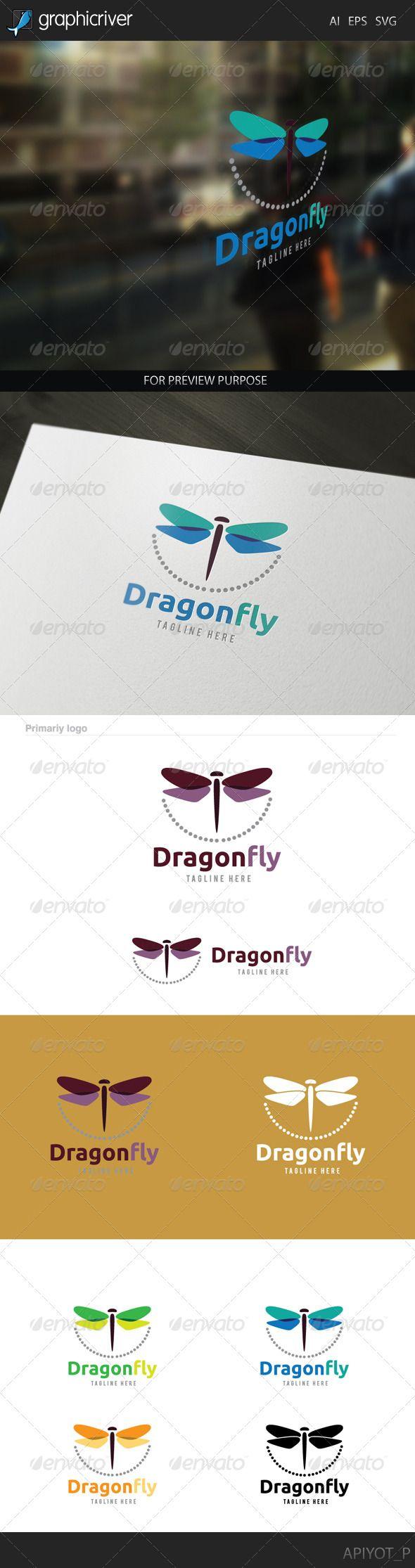 Dragonfly Logo http://graphicriver.net/item/dragonfly-logo/8172879?ref=damiamio