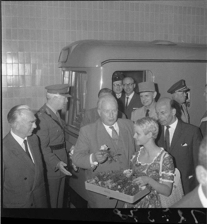 2.9.1961:Heute offizielle Eroeffnung der Linie G (Spichernstrasse-Leopoldplatz).
