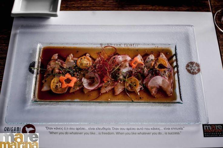 Enjoy your day!  Usuzukuri  Τhin slice of whine fish with soya and truffle dressing !! Σούπα με φύκια  τόφου και φρέσκο κρεμμύδι  Origami Sushi Bar The Perfect Place to Be Mαρίνα φλοίβου  Κτίριο 6  Παλαιό Φάληρο Tηλέφωνο κρατήσεων 21 0982 2220 info@maremarina.gr http://ift.tt/2r8ctYc #Origami_sushi_bar #OrigamiSushiBar #MarinaFloisvou #Taste #Bite #Fresh #OrigamiSushiBar #Floisvos #Sushi #Taste #Mood