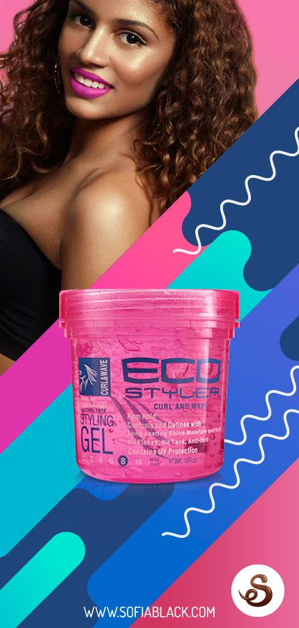 Eco Styler Curl & Wave Pink Gel ~ SofiaBlack.com envíos  24/72horas. Definición media-alta de larga duración. Anti frizz. Fijador sin alcohol. Gel para ondas playeras y rizos sueltos. Hidrata y aporta brillo natural. No deja residuos. No es pegajoso. Con protección solar UV. Ideal para pelo fino o normal.