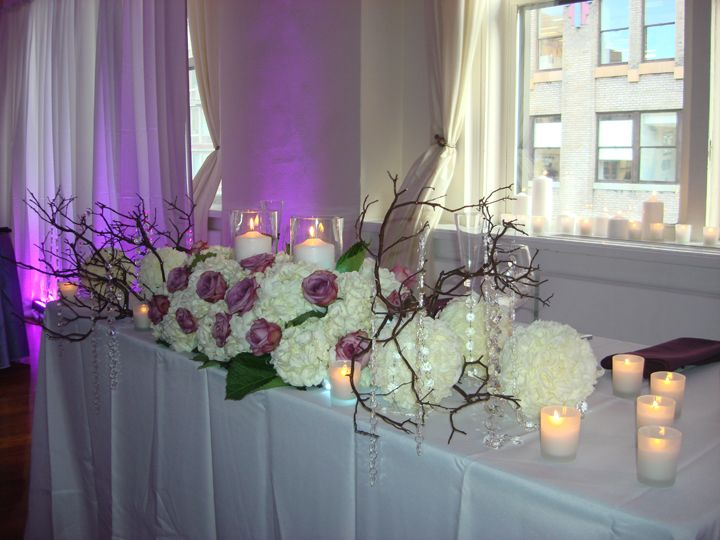 Manzanita bridal centerpiece
