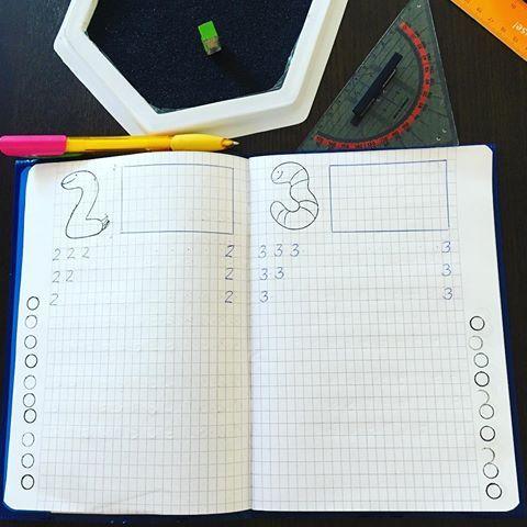 Ich bereite das Zahlenheft für 20 Kids vor (jeweils 10 Zahlen).😱 Sie dürfen die Seiten selbst gestalten. In den Kasten oben soll die jeweilige Menge gemalt werden, am Rand die jeweiligen Kreise anmalen, die Zahl schreiben (für die Linkshänder auch die Zahl rechts in der Zeile vorschreiben) und unten evtl.schon Aufgaben mit der Zahl rechnen oder aus Prospekten ausschneiden und einkleben oder ein Zahlenbild malen oder oder oder…! (Und eigentlich ist heute mein freier Tag…🙈) #lehrerleben #gru – Katrin Hannawald