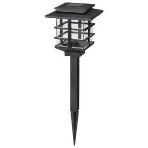Hampton Bay, 10-Light Plastic Black Solar LED Garden Light Set, HD23873BK10 at The Home Depot - Mobile