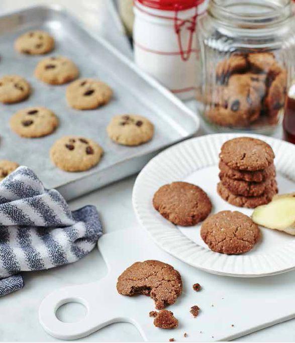 Gingernuts and Cinnamon and Raisin Cookies