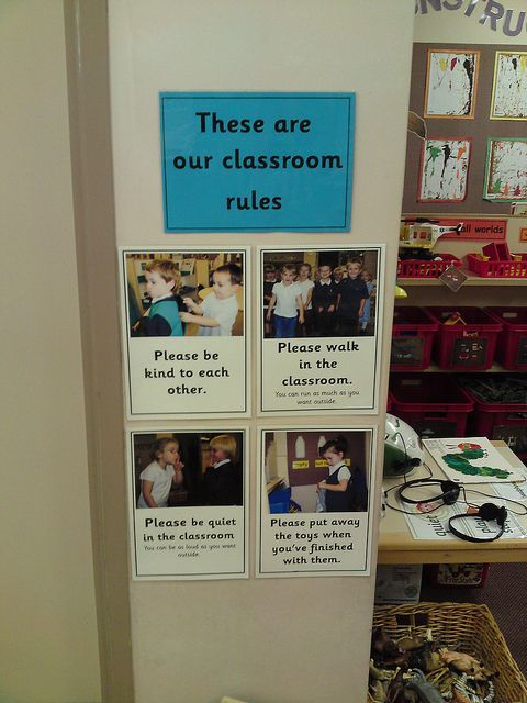 I like this idea, but tweak it with a sentence strip and maybe three photo examples under each. Maybe have kids do the writing, too?