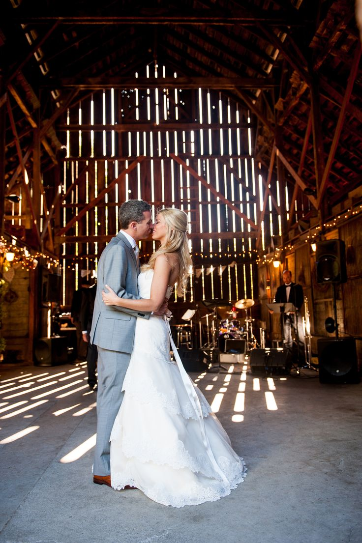 The barn makes a great backdrop