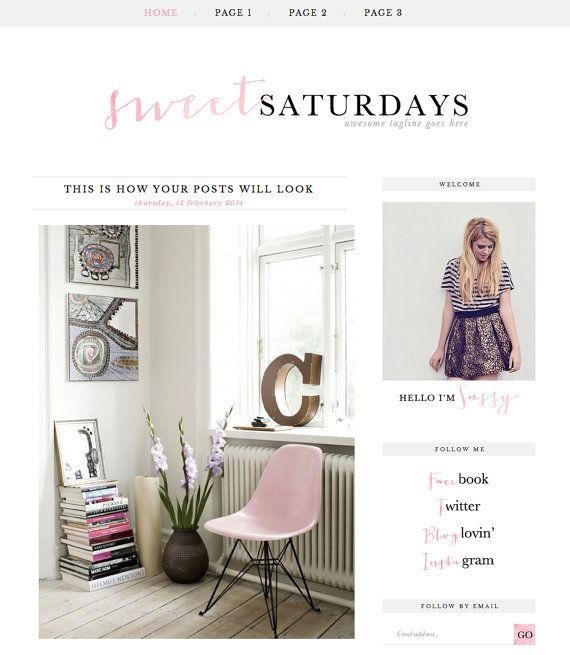 Blogger Template Inc Blog Elements And Xml Sweet Saturdays