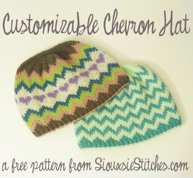 Chevron Stitch Knit In The Round : Knitting patterns, Chevron and Hats on Pinterest